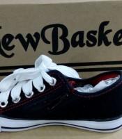 Sepatu New Basket Hitam Putih SMP murah