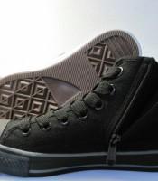 Sepatu New Basket All Black Tinggi